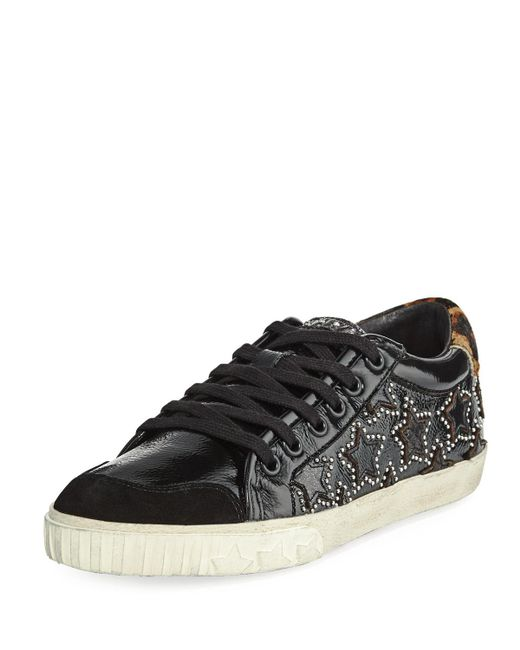Ash - Black Majestic Bis Sneakers With Stars - Lyst