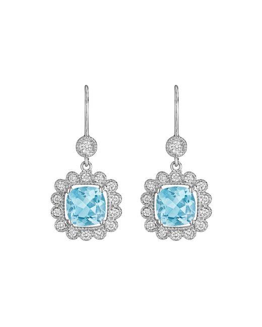 Penny Preville | Blue 18k Scalloped Aquamarine & Diamond Drop Earrings | Lyst