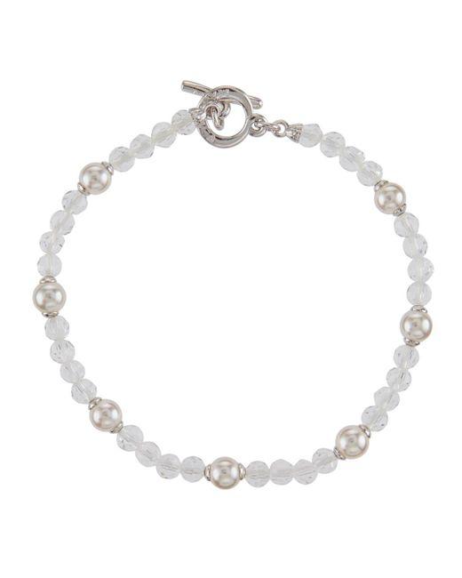 Majorica - White Pearl & Crystal Bracelet - Lyst