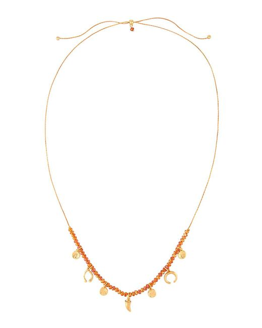 Fragments | Metallic Crystal-beaded Pull-tie Charm Necklace | Lyst