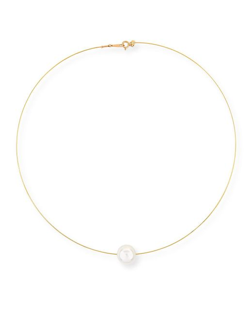 Belpearl   18k White South Sea Pearl Wire Necklace   Lyst