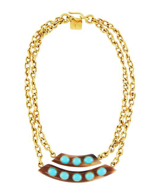 Ashley Pittman | Blue Ukuta Horn & Turquoise Double-strand Statement Necklace | Lyst