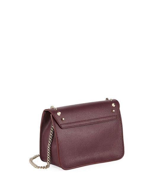 5ececac860 Women's Purple Julia Mini Studded Saffiano Leather Crossbody Bag
