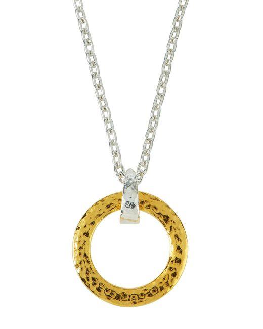 Gurhan - Metallic Small Tapered Hoop Pendant Necklace - Lyst