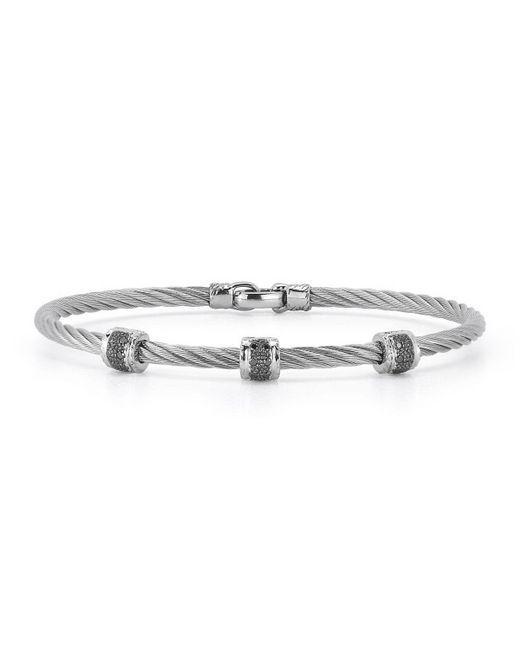 Alor   18k White Gold & Diamond Cable Bracelet   Lyst