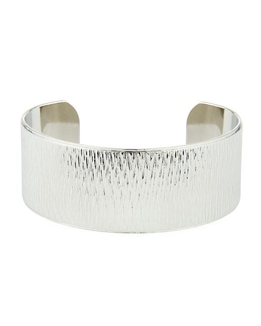 A.V. Max - Metallic Wide Diamond-cut Cuff Bracelet - Lyst