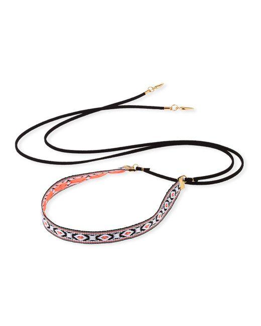 Fragments | Multicolor Woven Wraparound Choker Lariat Necklace | Lyst