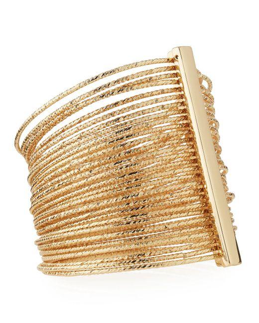 Kenneth Jay Lane | Metallic Multi-row Bangle Bracelet | Lyst