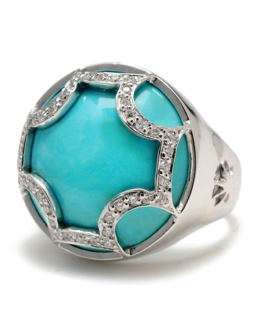 Elizabeth Showers - Blue Turquoise Maltese Ring - Lyst