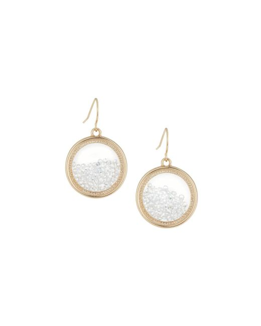 Lydell NYC - Metallic Clear Round Shaker Earrings - Lyst
