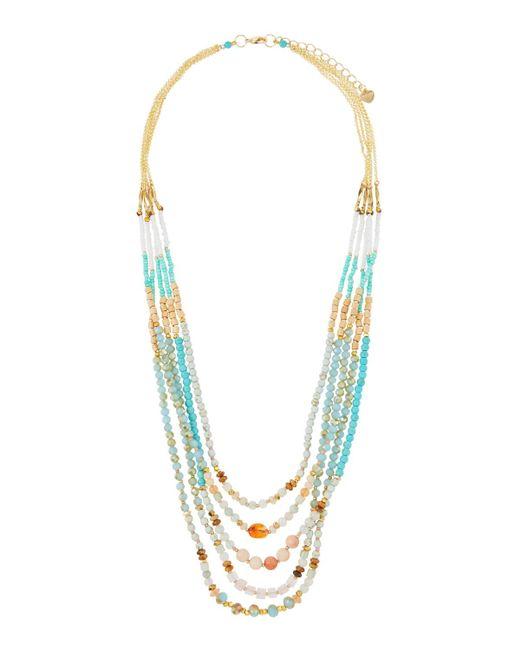 Nakamol - Blue Beaded Multi-strand Necklace - Lyst