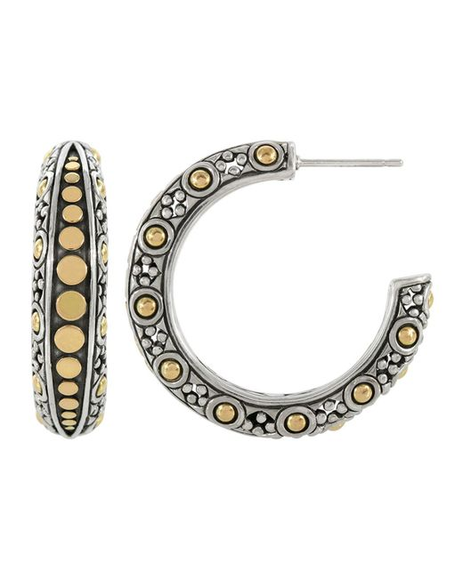 John Hardy - Metallic Jaisalmer Dot Medium Hoop Earrings - Lyst