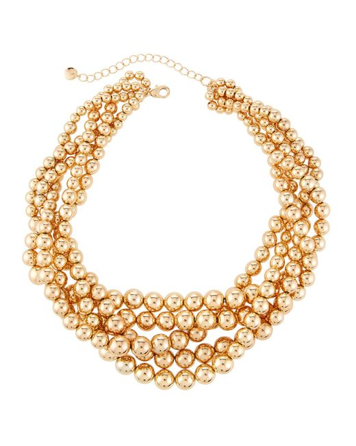 Lydell NYC | Metallic Beaded Torsade Necklace | Lyst