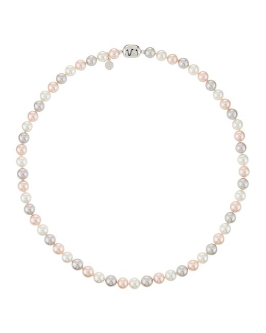 Majorica Pink Multihued Pearl Strand Necklace