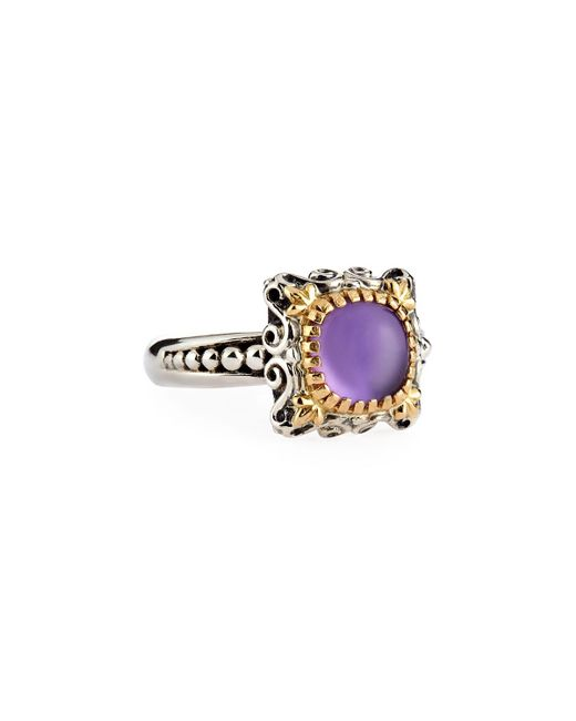 Konstantino | Purple Erato Delicate Square Amethyst Doublet Ring | Lyst