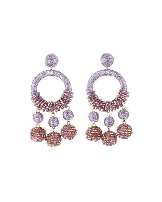 Lydell NYC - Purple Wrapped Hoop Drop Earrings - Lyst