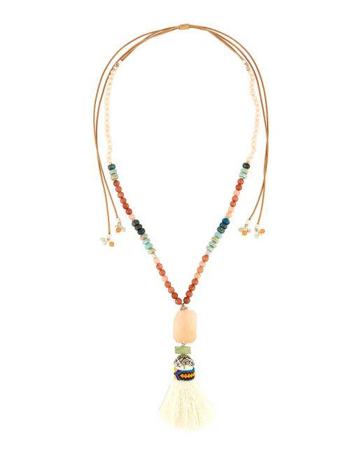 Nakamol   Multicolored Adjustable Beaded Tassel Necklace   Lyst