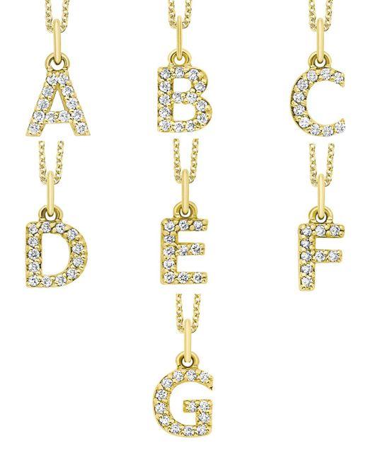KC Designs - White 14k Yellow Gold Diamond Initial & Chain - Lyst