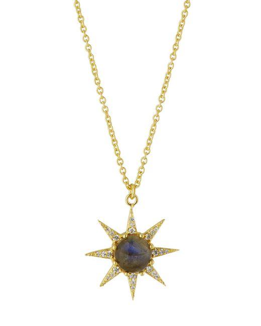 Indulgems - Gray Celestia Labradorite Starburst Pendant Necklace - Lyst