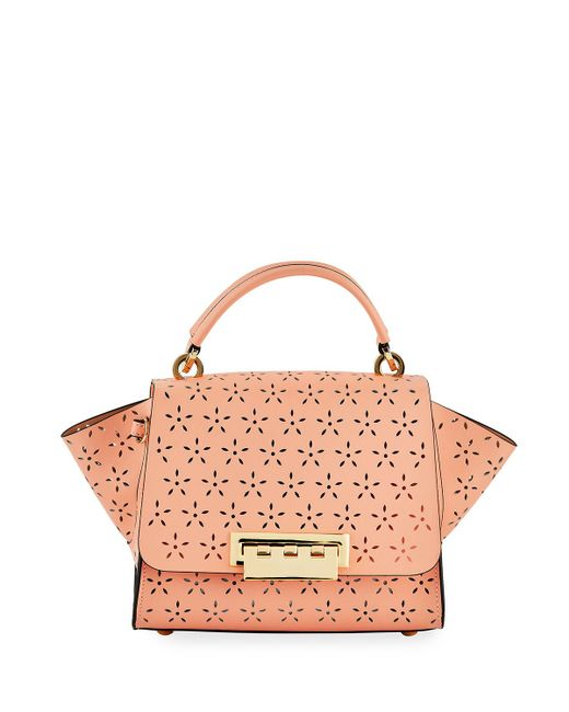 Zac Zac Posen Multicolor Eartha Floral Perforated Leather Top-handle Bag