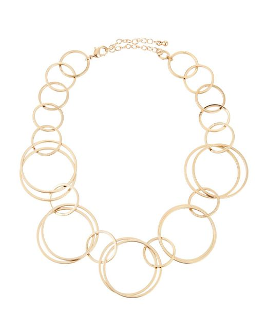 Lydell NYC - Metallic Single Strand Circle-link Necklace - Lyst