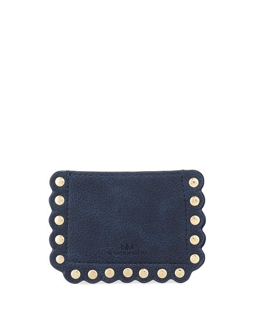 Neiman Marcus | Natural Scalloped Pebbled Card Case | Lyst