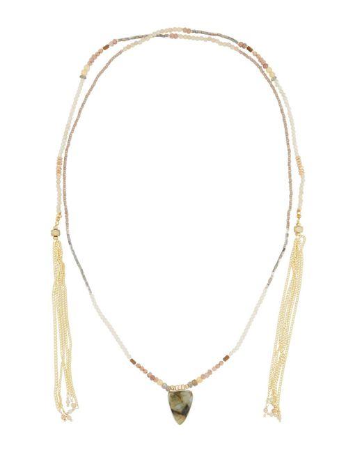 Nakamol - Gray Long Beaded Lariat Choker Necklace - Lyst