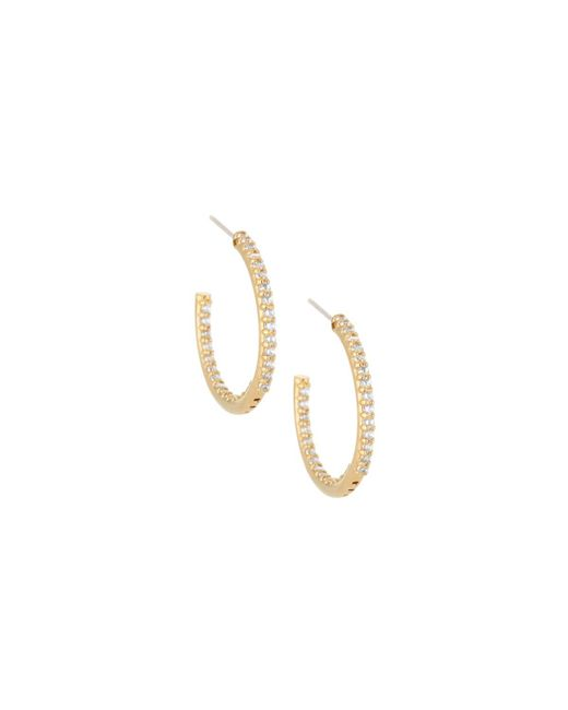 Fantasia by Deserio | Metallic 22k Gold-plated Cz Crystal Hoops | Lyst