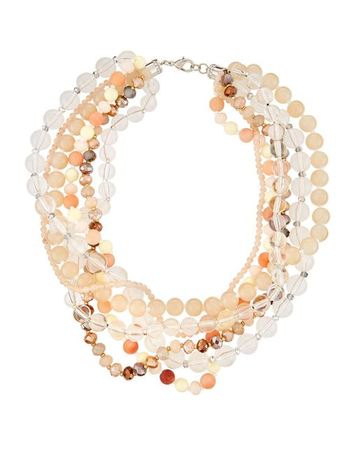 Fragments - Multicolor Lucite® Twisted Statement Necklace - Lyst