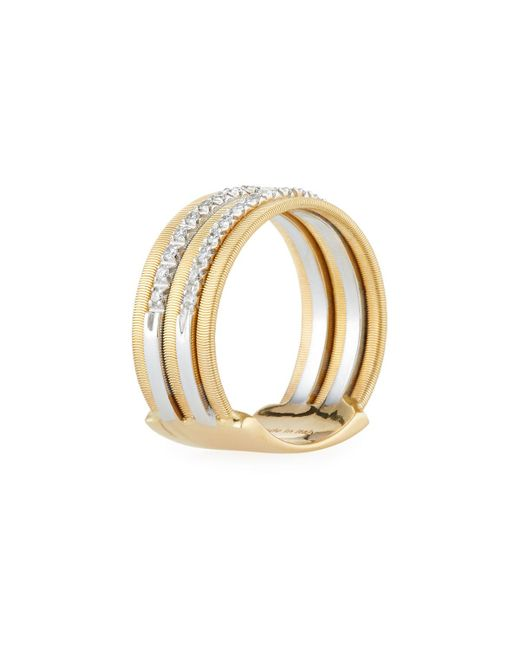 Marco Bicego - Metallic Goa 18k Gold Five-row Double Pave Diamond Ring - Lyst
