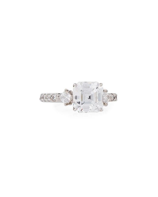 Fantasia by Deserio - Multicolor Princess-cut Cz Crystal Ring - Lyst