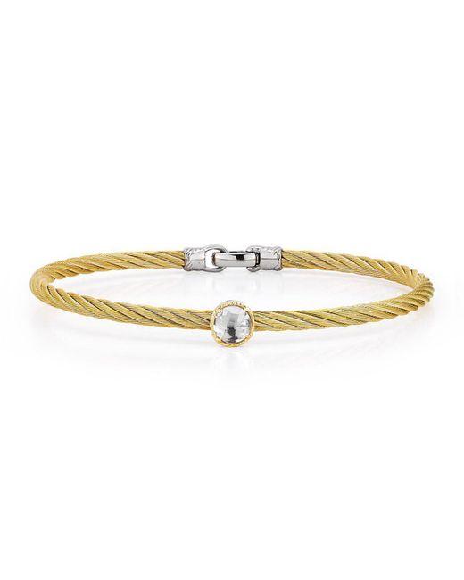 Alor   Metallic Stainless Steel & Topaz Cable Bracelet   Lyst