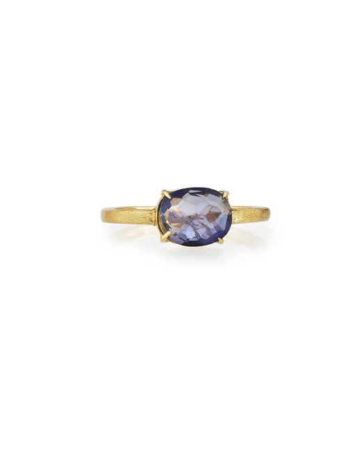 Marco Bicego | Multicolor 18k Oval Iolite Solitaire Ring | Lyst