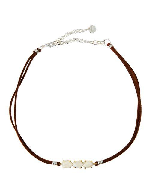 Nakamol   Multicolor Braided Leather & Moonstone Choker   Lyst