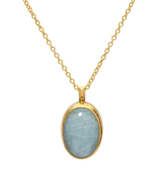 Gurhan Blue Limited Edition Amulet 24k Aquamarine Pendant Necklace