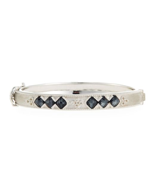 Jude Frances - Metallic Moroccan Sterling Silver Hinge Bracelet With Hematite/crystal Doublets - Lyst