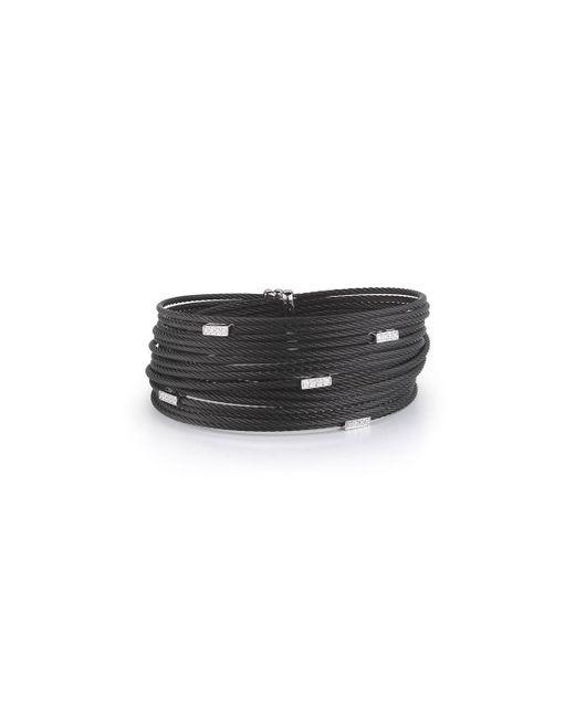 Alor - Black Noir Multi-row Micro-cable Bracelet W/ Diamonds - Lyst