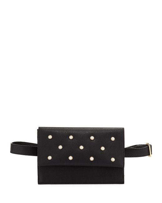 Neiman Marcus - Black Pearlescent Faux-leather Belt Bag - Lyst