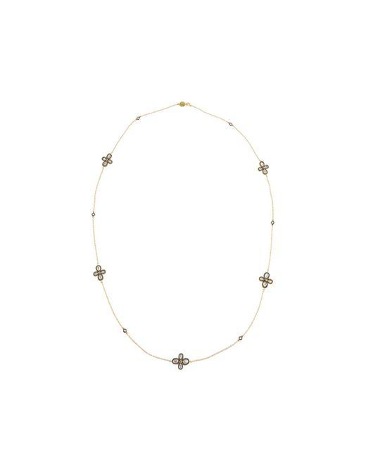 Freida Rothman - Metallic Long Pave Clover Station Wrap Necklace - Lyst