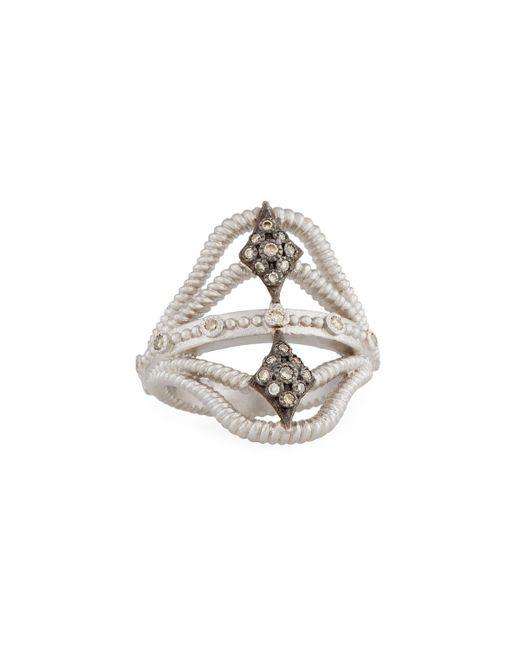 Armenta | Metallic New World Twisted Ring W/ Champagne Diamonds | Lyst