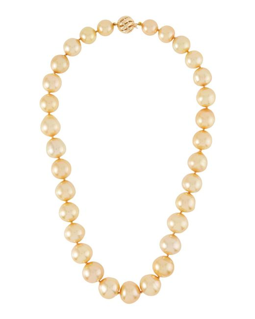Belpearl - Metallic 14k Golden South Sea Pearl Necklace - Lyst