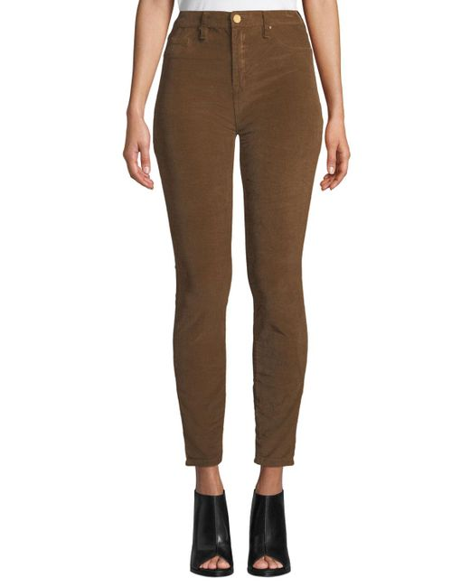 Blank NYC - Metallic High-rise Skinny Corduroy Pants - Lyst