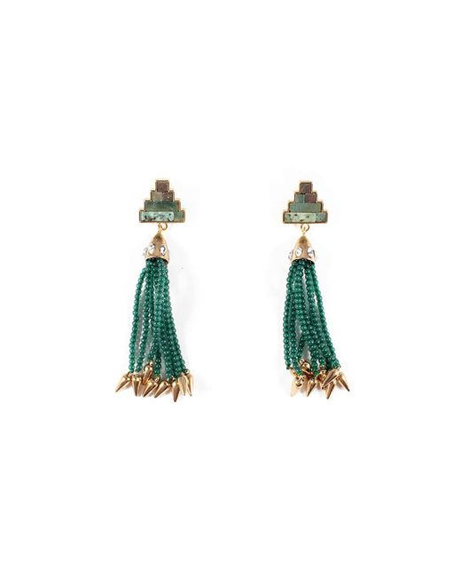 Lulu Frost - Green Ortigia Tassel Drop Earrings - Lyst