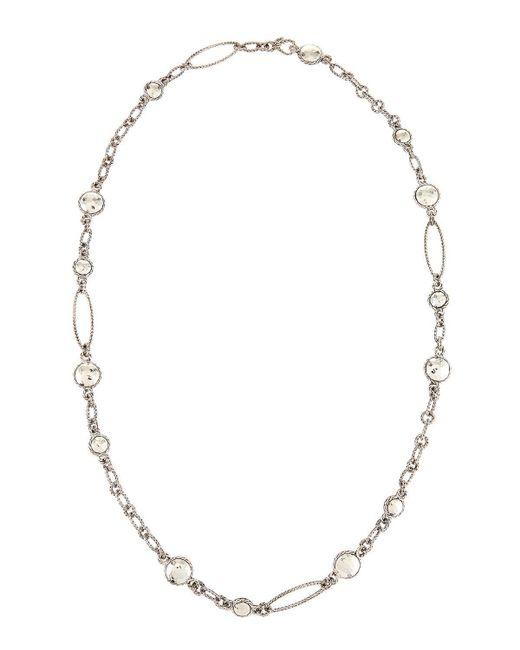 John Hardy | Metallic Palu Sautoir Long Round Link Station Necklace | Lyst