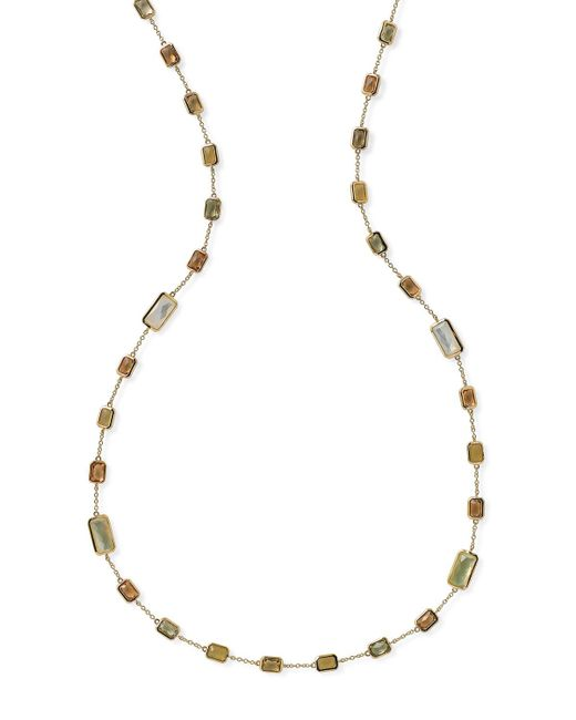 Ippolita - Metallic 18k Rock Candy® Station Necklace In Tuscan Sun - Lyst