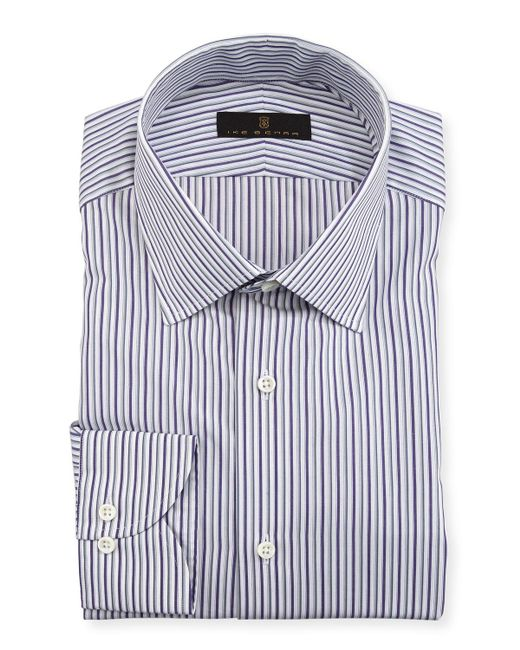 Ike Behar - Purple Gold Label Striped Cotton Dress Shirt for Men - Lyst