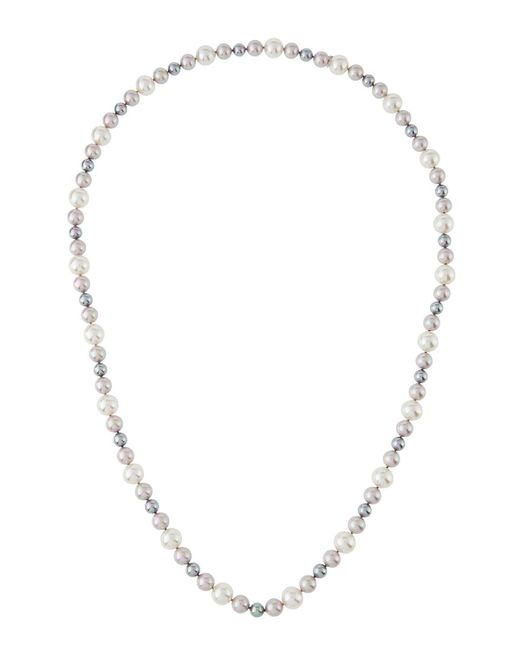 Majorica - Metallic 8-12mm Nuage Simulated Pearl Necklace - Lyst
