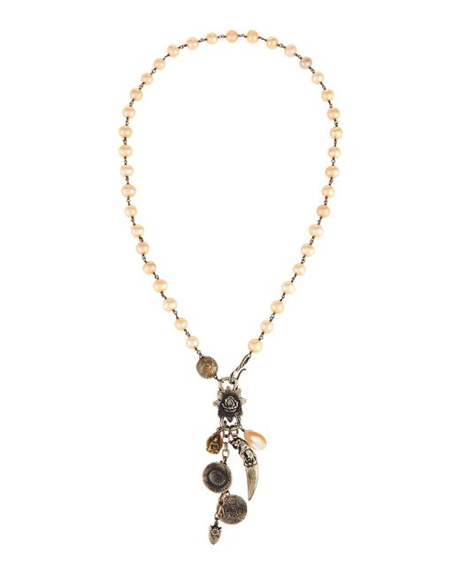 Love Heals | Brown Long Champagne Pearl Pendant Necklace | Lyst