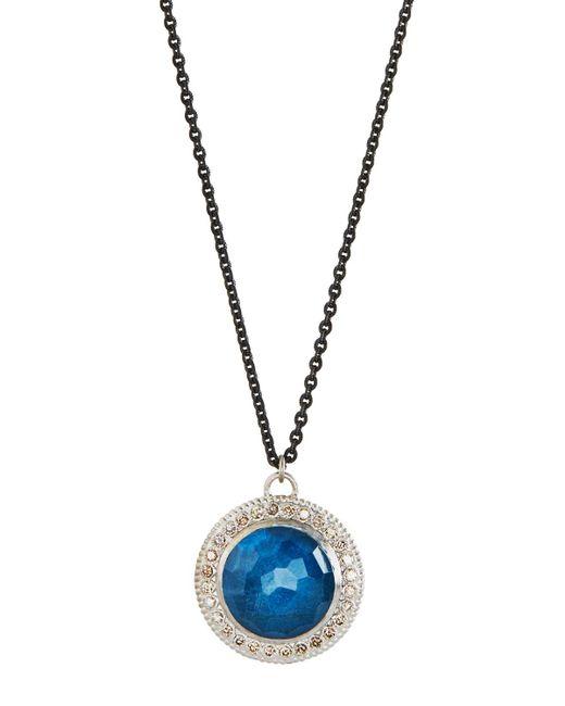 Armenta | Metallic New World Round Triplet Drop Necklace W/ Diamonds | Lyst