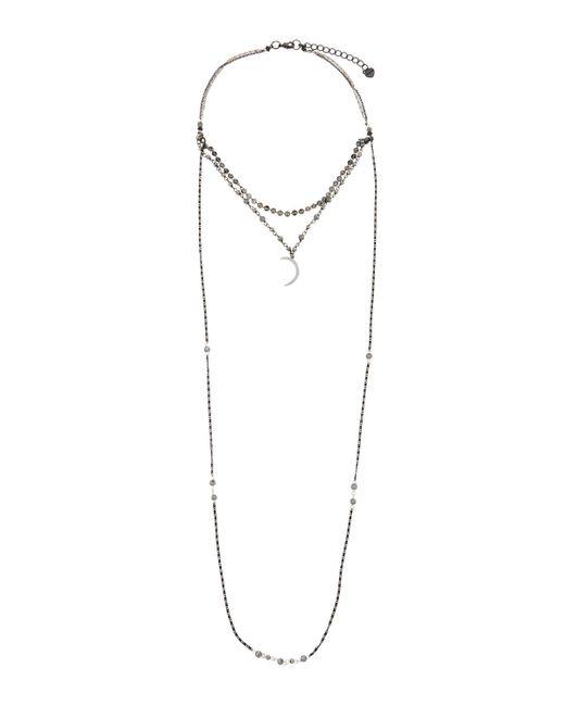 Nakamol   Metallic Beaded Multi-strand Choker Necklace W/ Moon Charm   Lyst